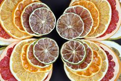 Dried pieces of citrus fruit in a plate