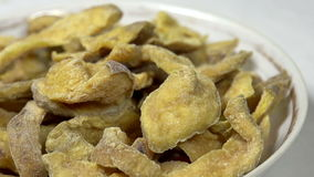 Dried Pieces of Guava in a Bowl stock footage