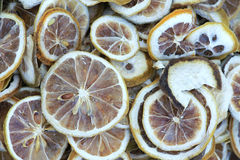 Dried pieces of lemon Royalty Free Stock Images