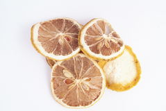 Dried pieces of lemon Stock Photo