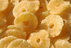 Dried pineapple. Slices suitable for background stock photography
