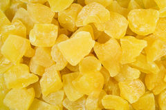 Dried pineapple pieces Royalty Free Stock Photos