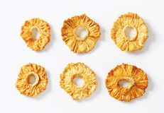 Dried pineapple rings Stock Image