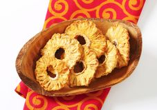 Dried pineapple rings Stock Photography