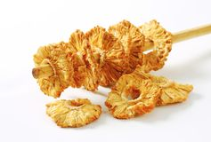 Dried pineapple rings Stock Photos