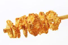 Dried pineapple rings Royalty Free Stock Photography