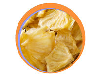 Dried Pineapple for snack-bite Royalty Free Stock Image