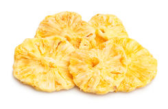 Dried pineapple. On white background Royalty Free Stock Photos