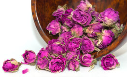 Dried pink and purple rose buds prepare for Spa therapy Stock Image