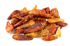 Dried piri-piri on white Royalty Free Stock Images