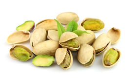 Dried pistachios Royalty Free Stock Photos