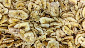 Dried plantain slices in loose. Can be used as background or wallpaper and for other possibility or to modify to your taste Royalty Free Stock Images