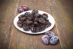 Dried plum candied Stock Photos