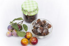 Dried plum Royalty Free Stock Images