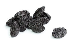 Dried plum - prunes isolated on a white background Stock Photography
