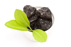 Dried plums Royalty Free Stock Photos