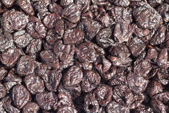 Dried plums background Stock Photography
