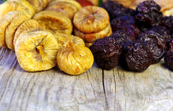Dried plums and figs Stock Image