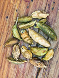 Dried pods of cardamon Stock Image