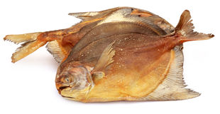 Dried pomfret fish Royalty Free Stock Images