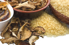 Dried porcini mushrooms Stock Photo