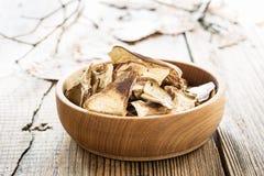 Dried porcini mushrooms Stock Photography