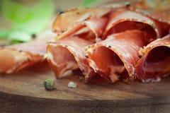 Dried pork collar salami Royalty Free Stock Photography