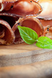 Dried pork collar salami Stock Photography
