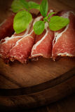 Dried pork collar salami Royalty Free Stock Photos