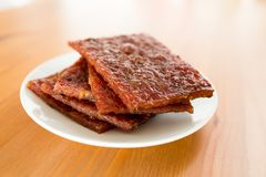 Dried pork jnuk food Stock Photography