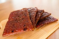 Dried pork meat Royalty Free Stock Images