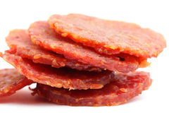 Dried pork snack Royalty Free Stock Photos