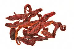 Dried Preserved Red Chili Pepper Stock Image