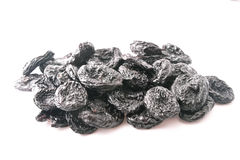 Dried Prune. On white background Stock Photography