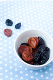 Dried prunes and apricots Stock Image