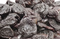Dried prunes macro Stock Photo