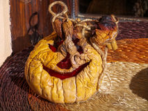 Dried pumpkin for Halloween Stock Photography