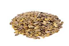 Dried pumpkin seeds. Stock Photo