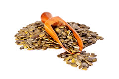 Dried pumpkin seeds. Royalty Free Stock Photo