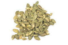 Dried pumpkin seeds Royalty Free Stock Photos