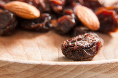 Dried raisins and almonds Stock Image