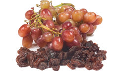 Dried raisins and grape Royalty Free Stock Photo