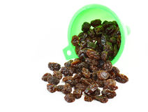 Dried raisins on a white background Stock Images