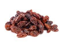 Dried raisins on a white Stock Photo