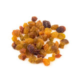 Dried raisins on a white background. Red yellow green Stock Image
