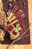 Dried red beans for cooking. Stock Photo