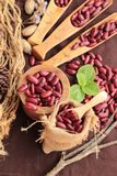 Dried red beans for cooking. Dried red beans for cooking Royalty Free Stock Photos