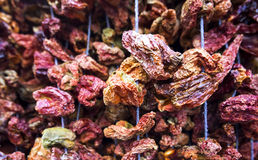 Dried red bell pepper Royalty Free Stock Image