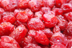 Dried red cherries Stock Images