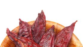 Dried Red Chiles Stock Photos
